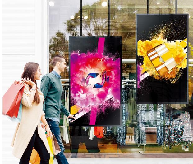 """Nouveauté: écrans Samsung double faces pour vitrines Samsung, en 46"""" et 55"""""""